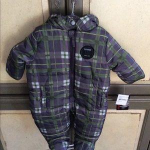 Weatherproof Baby Boys Plaid Sherpa Pram